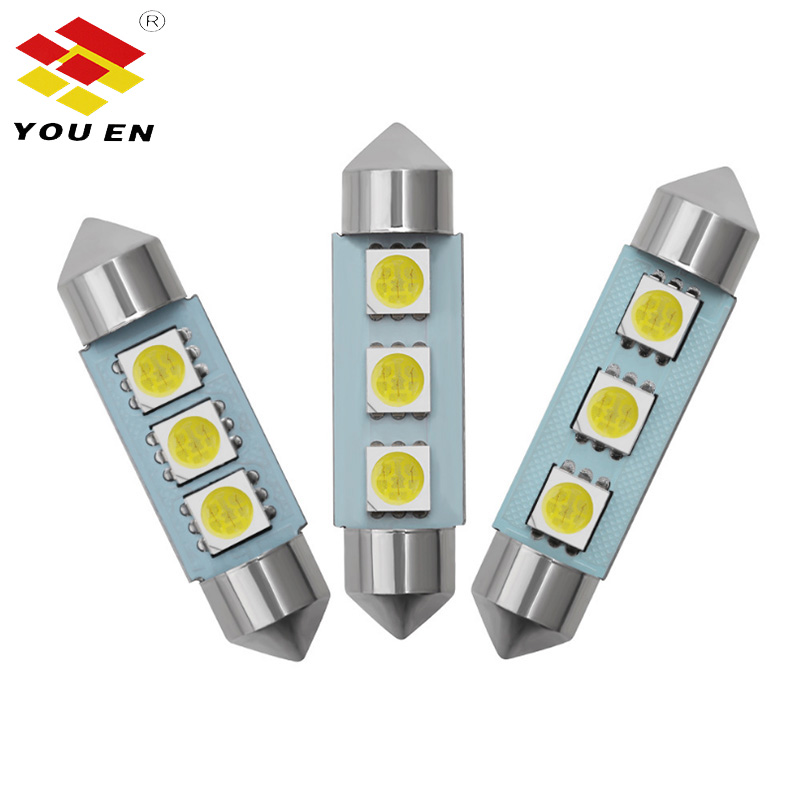 YOUEN Led C5W 5050 3 Smd 3Smd 36mm 39mm 41mm Dc 12v Festoon Interior Dome Door Light Free Light Lamp Turn Signal Bulb