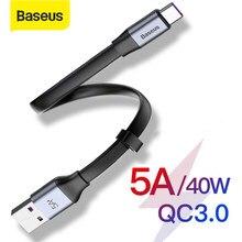 Baseus 5A Supercharge USB tipo C cavo per Huawei P30 Mate 30 Pro portatile USB C cavo Quick Charge 3.0 per Xiaomi 9 USB-C Wire