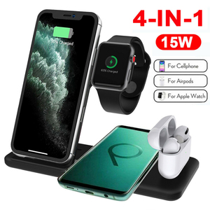 Image 5 - Qi 15W Wireless Charger Stand 3 in 1 Fast Charging Dock Station for AirPods Pro Apple Watch 5 iWatch iPhone 11 XS XR X 8 Samsung