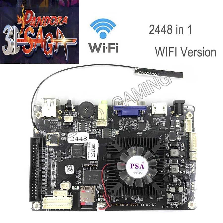 2019 NEW MODEL Support WIFI Online Free Download 2D 3D Game/ 2448 In 1 With 140PCS 3D Games PCB Arcade Machine Board HDMI VGA
