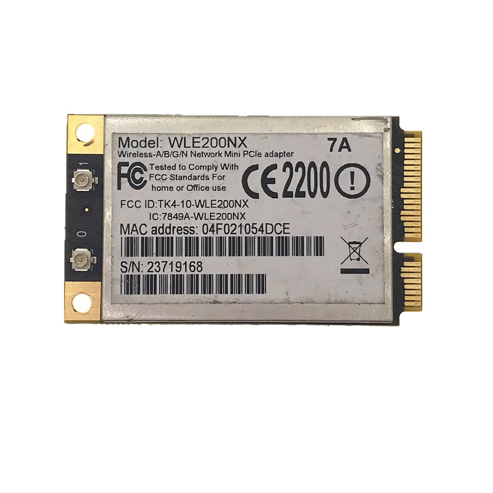 AR9280 WLE200NX 2.4G/5G 2x2 MIMO 300Mbps 802.11a/b/g/n MINI PCI-E Wifi Wireless Network Card