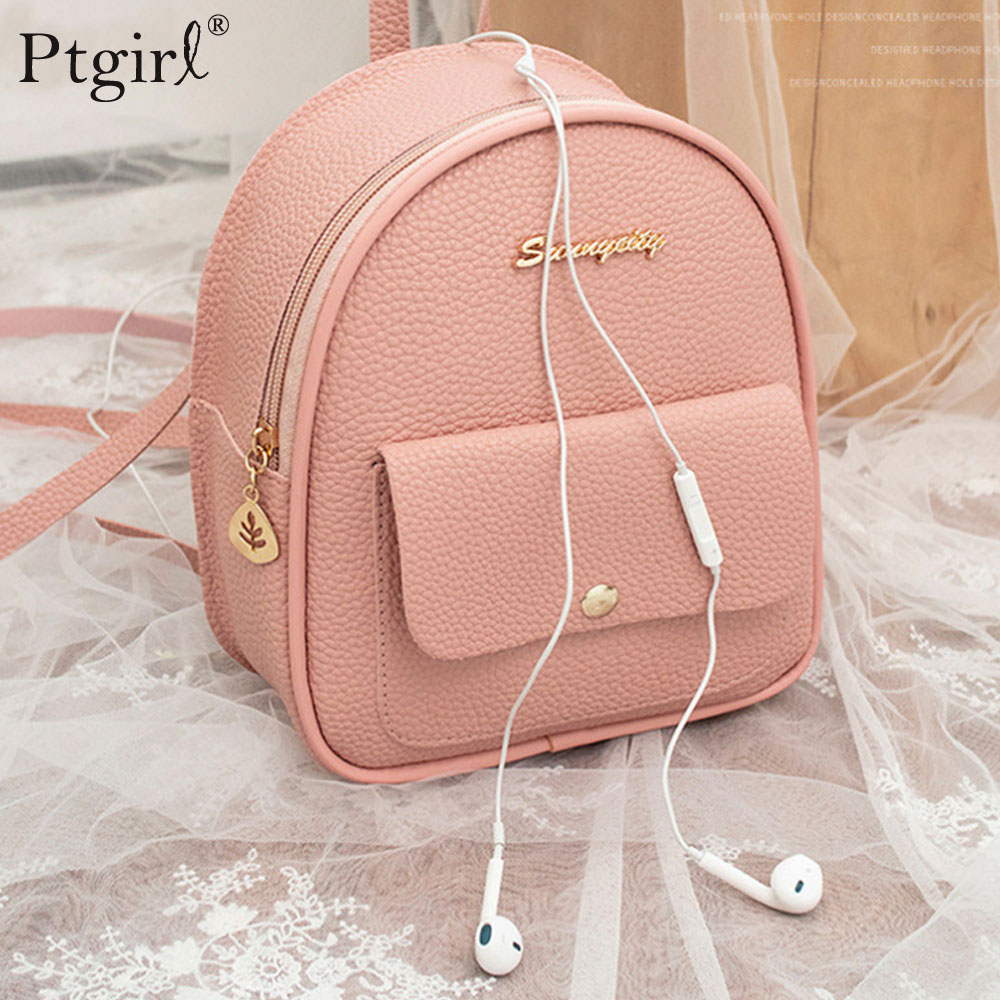 Mini Backpack Phone-Pouch Shoulder-Bag Multi-Function Teenage-Girls Female Korean-Style title=