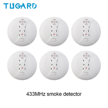 цена на 433MHz Wireless Smoke Detector Fire Smoke Sensor For Home Security Alarm System Alarm Accessories Smoke Grenade  Fire Equipment