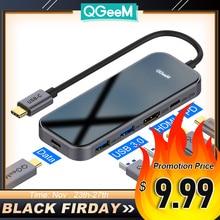 QGeeM Hub USB type c 3.1, adaptateur HDMI PD pour Macbook Pro, Hub multi usb 3.0, adaptateur de chargement usb c pour iPad Pro OTG