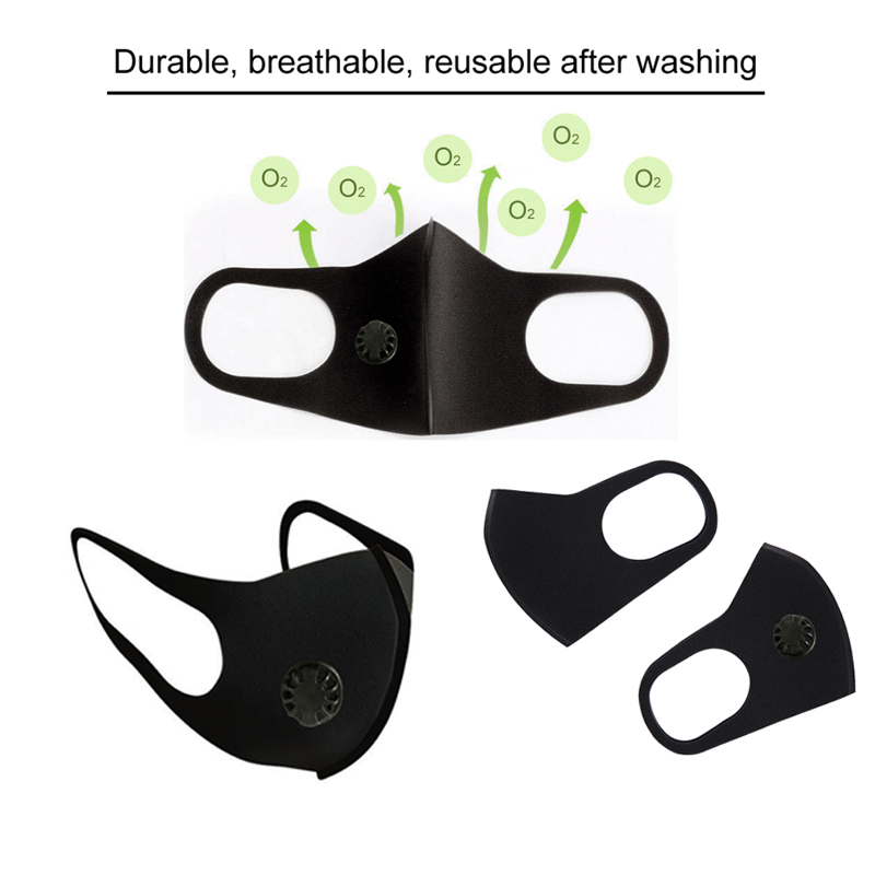 Air Purifying Face Mask Mouth Muffle Carbon Corona Filter Dust Haze Fog Respirator PM2.5 Black Mouth Mask Anti Dust Proof Flu
