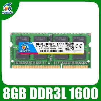 Оперативная память VEINEDA DDR3L 8 Гб 1333 ram-memoria-ddr3L 1333 МГц для Intel AMD Sodimm ddr3L 8 Гб PC3-12800 204pin