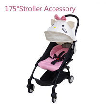 175 Degrees Stroller Accessories for Baby Yoya Babyzen Yoyo Seat Liners Sun Shade Cover Baby Throne Time Pram Hood Cushion Pad