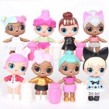 Originale笑サプライズ8個lols驚き人形おもちゃ女の子服accesorios子供クリスマスハロウィン誕生日の装飾のギフト収納ボックス & ビン