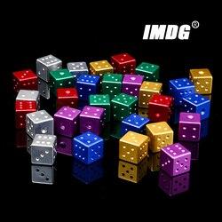 Nuevos dados de Metal de aleación de aluminio de colores, 16mm, Esquina cuadrada, juego de Boutique, 1 ud.