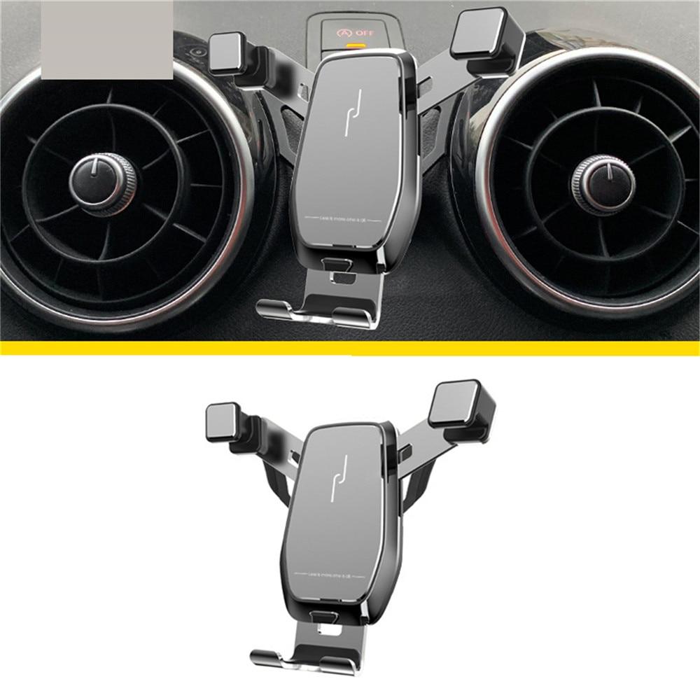 Горизонтальный Вертикальный держатель смартфона для Audi A3 /Q2L /A1 /A4L /A6L /Q5L, металлический кронштейн с поворотом на 360 градусов