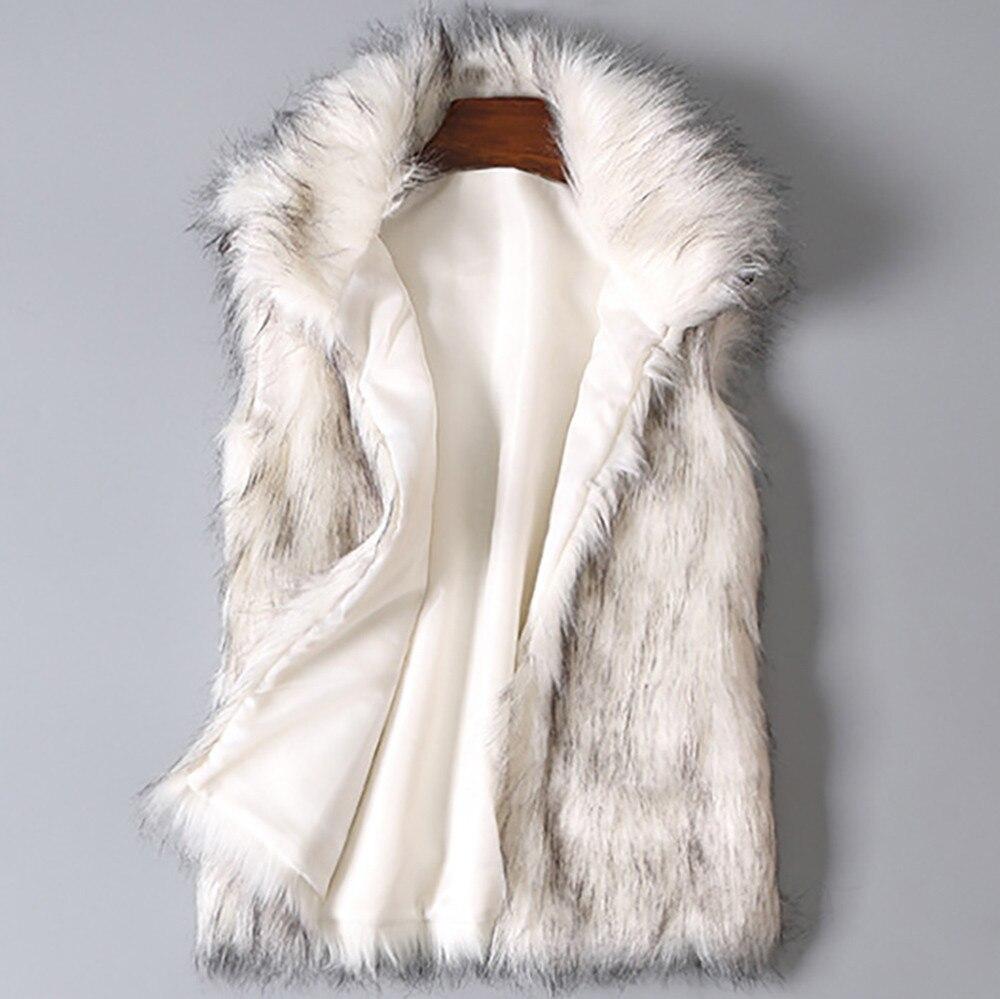 Winter Warm Women Wool Vest Faux Fur Vest Stand Collar Coat Vests White Outerwear Vests winter vest women gilet femme 2020