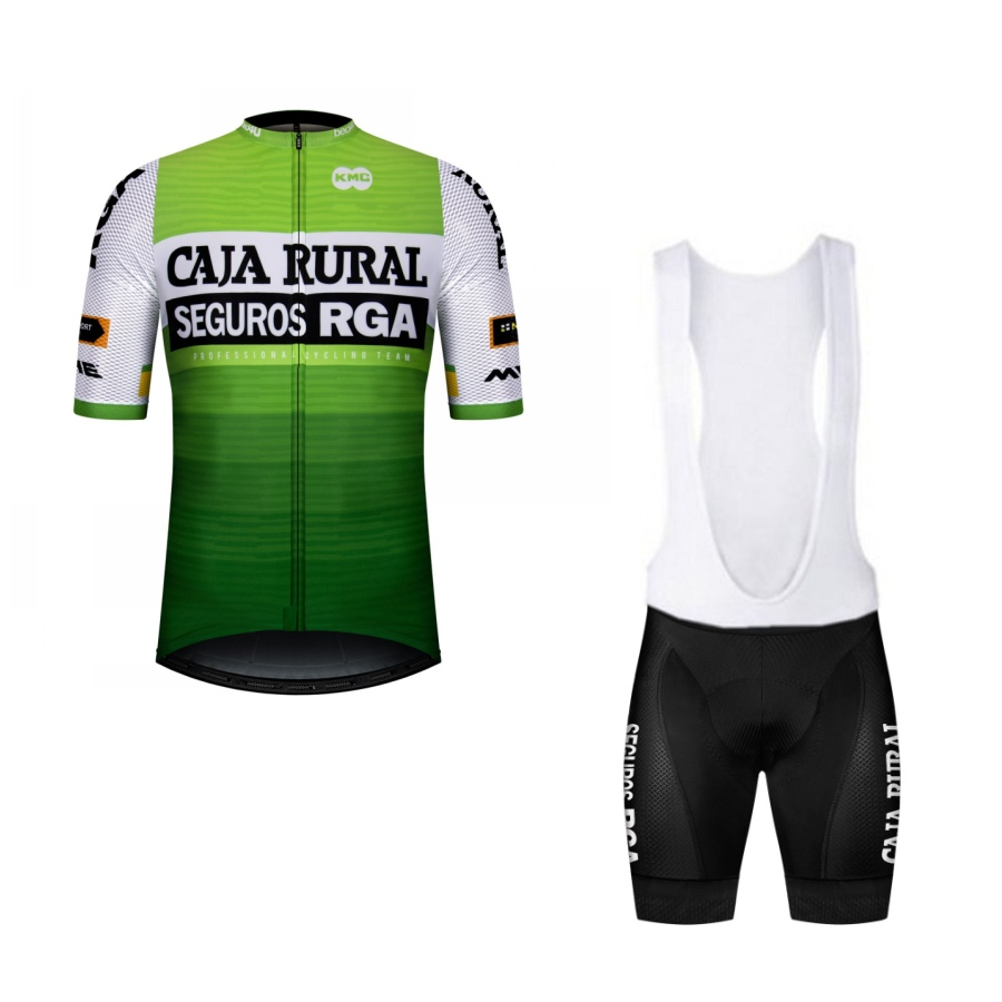 2020 Pro Team Caja Rural Cycling Jersey Set Bicycle Maillot Summer Breathable MTB Quick Dry Bike Clothing Ropa Ciclismo Gel Pad
