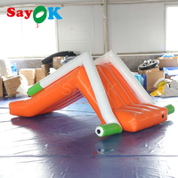 3x1.2mH Inflatable mini slide for swimming pool/seaside/lake inflatable water slide with air pump for water park equipment
