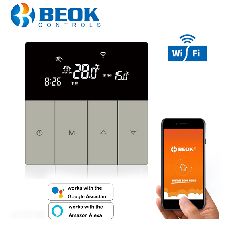 New Arrival Wifi Temperature Controller Smart Thermostat Floor Heating 220-240V Goolge Home Alexa