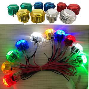 Led-Lighting Switch-Buttons MAME Arcade Pandora Game Diy Raspberry 30mm 24mm 5V 12V