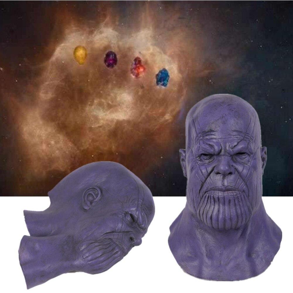 Thanos Masque Latex masques Cosplay film infini guerre Endgame Deadpool Masque accessoire