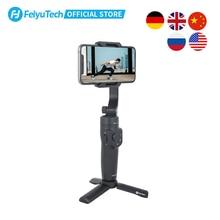 FeiyuTech oficial Vlog de bolsillo 2 MINI portátil inteligente del cardán estabilizador palo de selfie para iPhone 11 XS XR 8 7 HUAWEI P30 pro