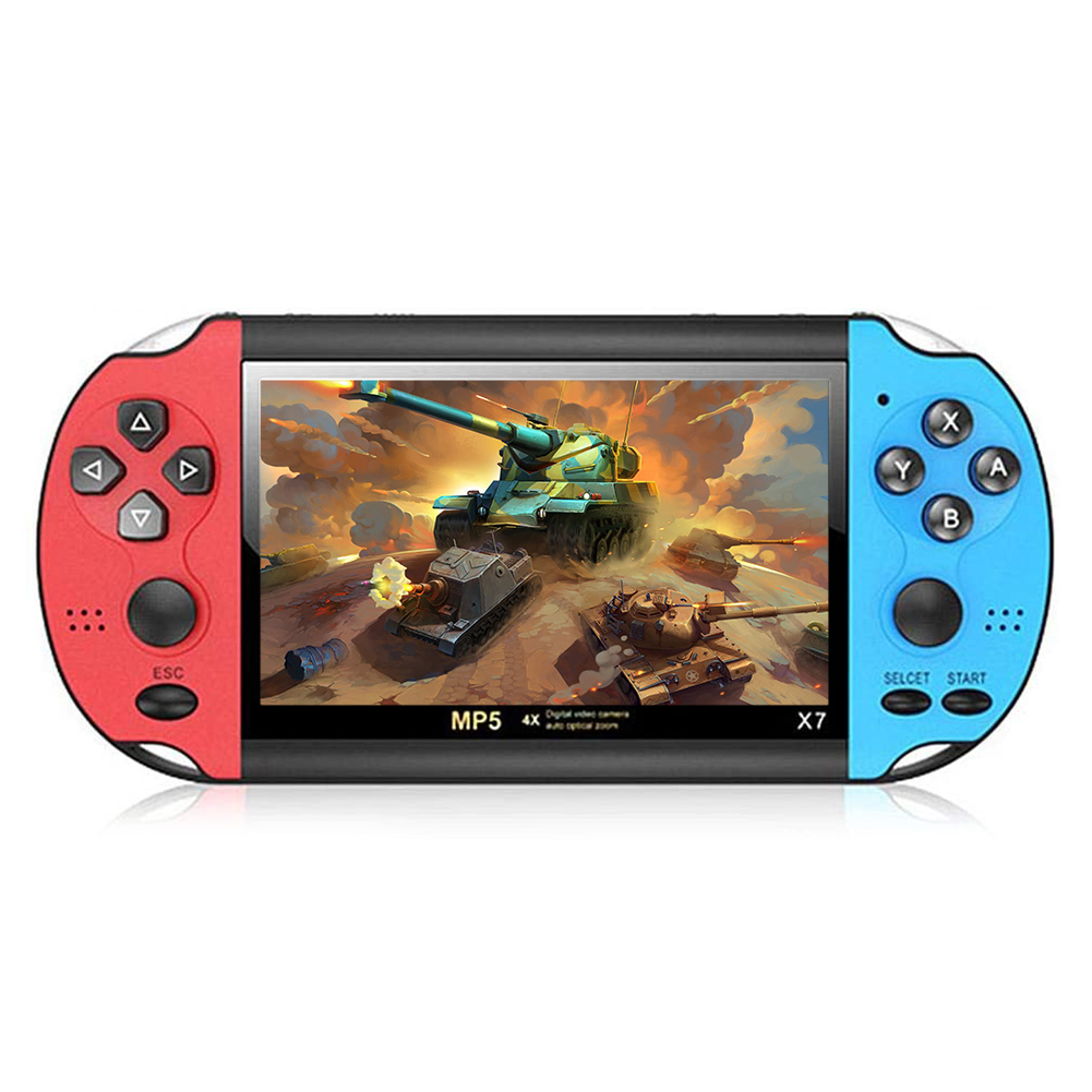 X7 Handheld Game Player 4.3 Inch LCD Display 8GB Double-rocker 3000 Classic Game Retro Mini Pocket Game Console MP5 Video Player