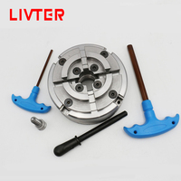 LIVTER 5 inch / 125mm 4 jaw wood lathe chuck for woodworking turning machine