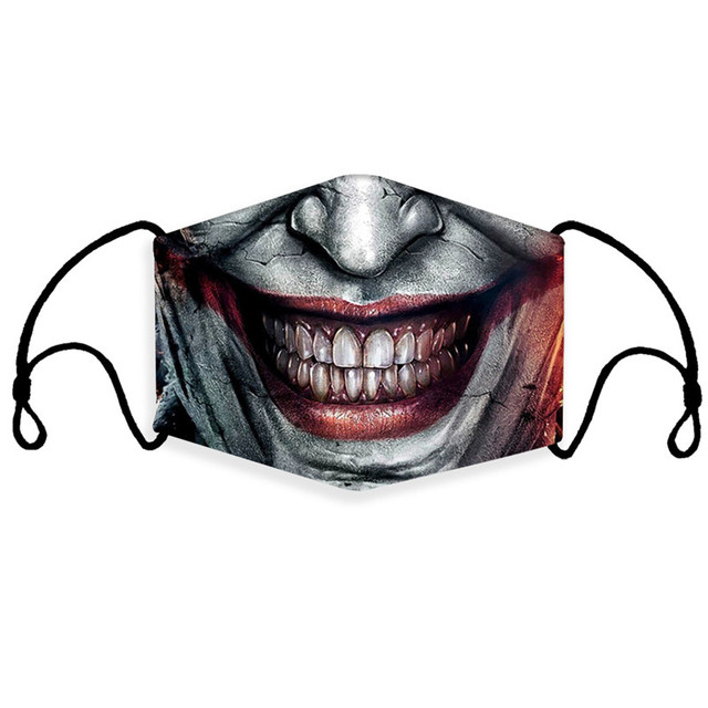 3pcs/set Skull Reusable Face Mouth Mask PM2.5 Filter Anti-Dust Protective Kids Man Woman Cartoon Washable Mouth Cover Masks 3