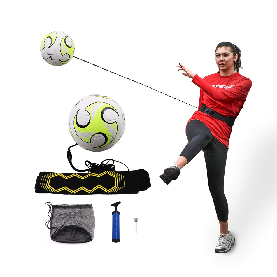 2019 New Arrived Size 4 Solo Kick Speed Football With Belt Rope For Beginner Practice Soccer Durable PU Ball Training Equiment