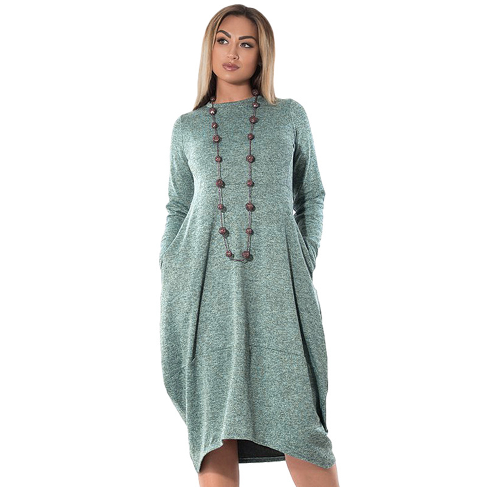 Spring Summer <font><b>Dress</b></font> Women 2020 Casual Plus Size Slim Long Sleeve Office Midi <font><b>Dresses</b></font> Elegant <font><b>Sexy</b></font> A Line Formal Party <font><b>Dress</b></font> <font><b>6XL</b></font> image