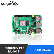 Последние Raspberry Pi 4 Модель B LPDDR4 2G/4G Quad-core Cortex-A72 (ARM v8) 64-бит 1,5 Ghz Dual core 4K HDMI Выход Мощность чем 3B +