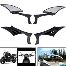1 Pair Universal Blade Motorcycle Rearview Side Mirrors For Yamaha Kawasaki Honda Suzuki Harley Touring Cruiser Chopper Bobber цена 2017