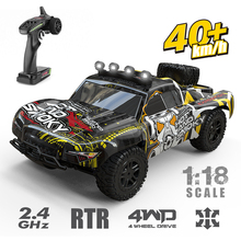 40KM/H 4WD RC Car 1:18 Radio Control 2.4G High Speed Truck Off-Road Truck Toys Remote Control Drift Driving Car Toys For Kids rc truck 2 4g radio control construction rc cement mixer fire truck rc garbage truck rc crane truck for kids gift toys