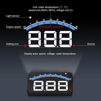 Universal M6 HUD Head Up Display Car styling Hud Display Overspeed Warning Windshield Projector Alarm System|Car Monitors|Automobiles & Motorcycles -