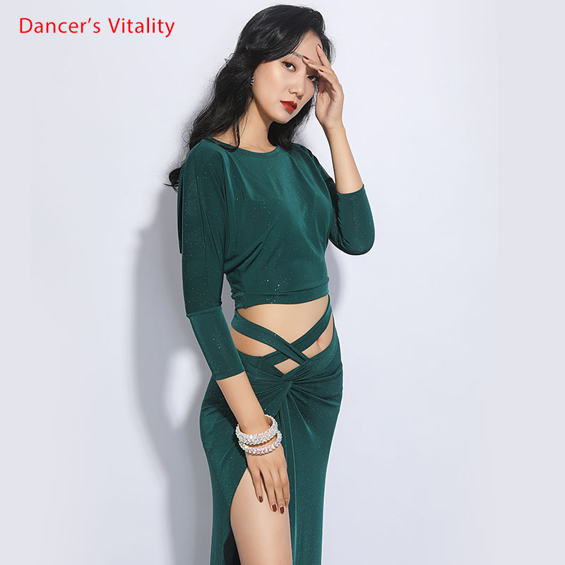 New Belly Dance Practice Clothing Women Autumn And Winter Skirt Oriental Dance Dance Suit Set Belly Dance Dress