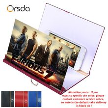Orsda universal screen amplifier HD wooden 3D mobile phone screen amplifier for Iphone Samsung Huawei millet