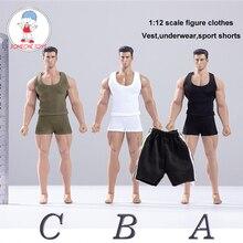 Centro de brinquedo (CEN S04) 1/12 escala figura masculina roupas colete shorts conjunto para 6 polegadas figuras ação