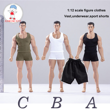 Toy Center (CEN S04) 1/12 Scale Male Figure Clothes Vest Shorts Set for 6 Inches Action Figures
