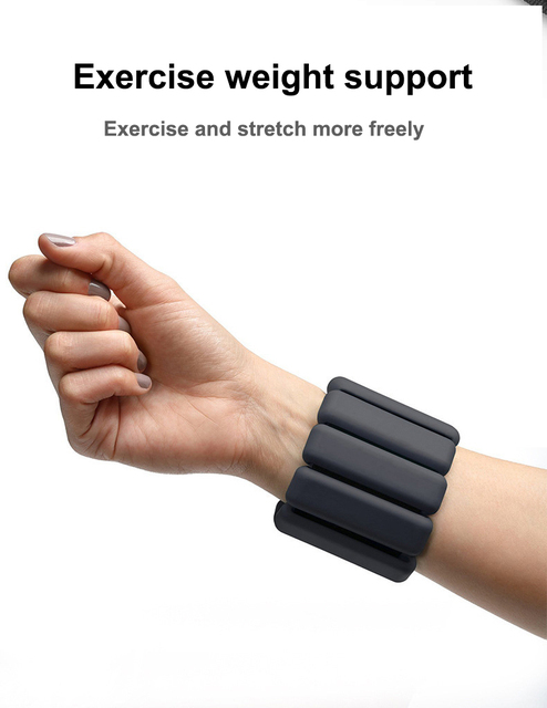 1 Pair Silicone Weight bearing Bracer Adjustable Waterproof Yoga Pilates Training Exercise Fitness Wristband in Dancing