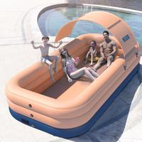 60s Fast inflation Wireless Inflatable Swimming Pool Thick Lounge Pool Summer Water Party Supply For Baby Kids Adult For Outdoor