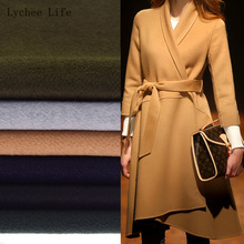 Lychee Life 45x50cm Double-sided Thick Winter Imitation Wool Cloth Fabric For Women Coat Clothes Diy Sewing Crafts