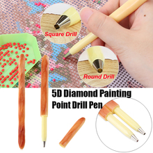 Bread Shape Point Drill Pen Square head/Round head For 5D Diamond Painting Cross Stitch Creative DIY Crafts Embroidery Sewing