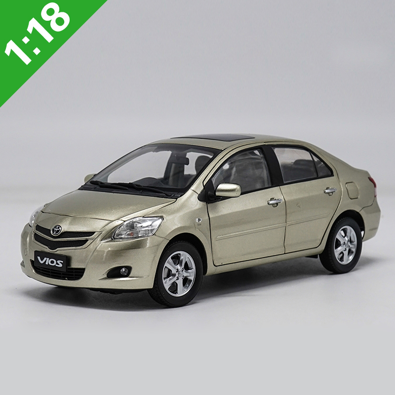1:18 High Meticulous TOYOTA VIOS Alloy Model Car Static Metal Model Vehicles With Original Box