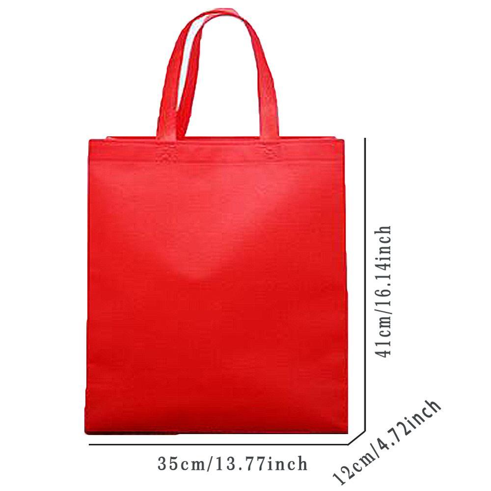 Reusable Shopping Bag Large Women Folding Bag Fabric Tote Bag Solid Grocery Bag Convenient Storage Handbag Eco Bag High Quality