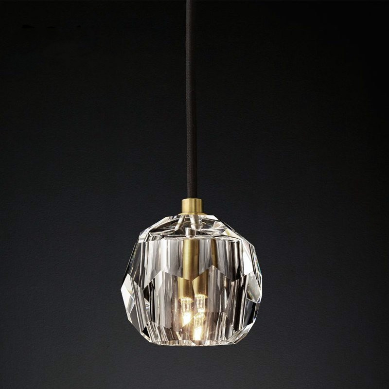 Modern LED Crystal Ball Pendant Lights Luxury Hanging Lamp For Living Room Bedroom Lustre Pendant Lamp Home Decor Light Fixtures