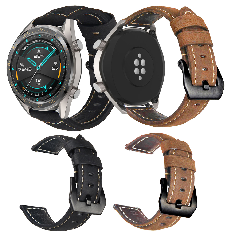 Leather Smart Band Bracelet For Huawei Watch GT2 46mm Replacement Watch Band For Huawei GT/GT 2 46MM Watch Strap Accessories