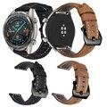 Leder Smart Band Armband Für Huawei Uhr GT2 46mm Ersatz Uhr Band Für Huawei GT/GT 2 46MM Uhr Strap Zubehör-in Uhrenbänder aus Uhren bei