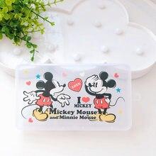 Caja de almacenamiento de mascarillas de Disney para niños, caja de juguetes de felpa de Mickey Mouse Stitch Toy Story Woody Buzz Lightyear PP, a prueba de polvo