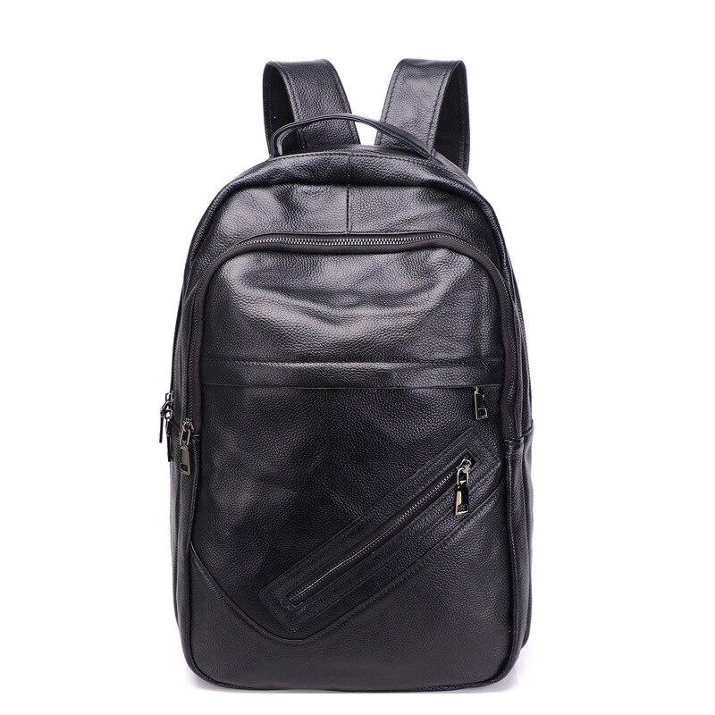 Купить кожаный рюкзак для мужчин модная вместительная уличная дорожная