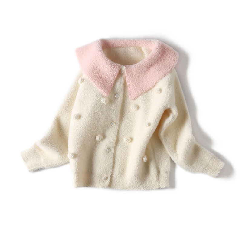 2019 Girl <font><b>Winter</b></font> Sweaters <font><b>For</b></font> Kids Knitted Cardigan Child Autumn <font><b>Winter</b></font> Sweater Dress Baby Girl <font><b>Clothes</b></font> 2 3 4 5 6 7 <font><b>8</b></font> <font><b>Year</b></font> Old image