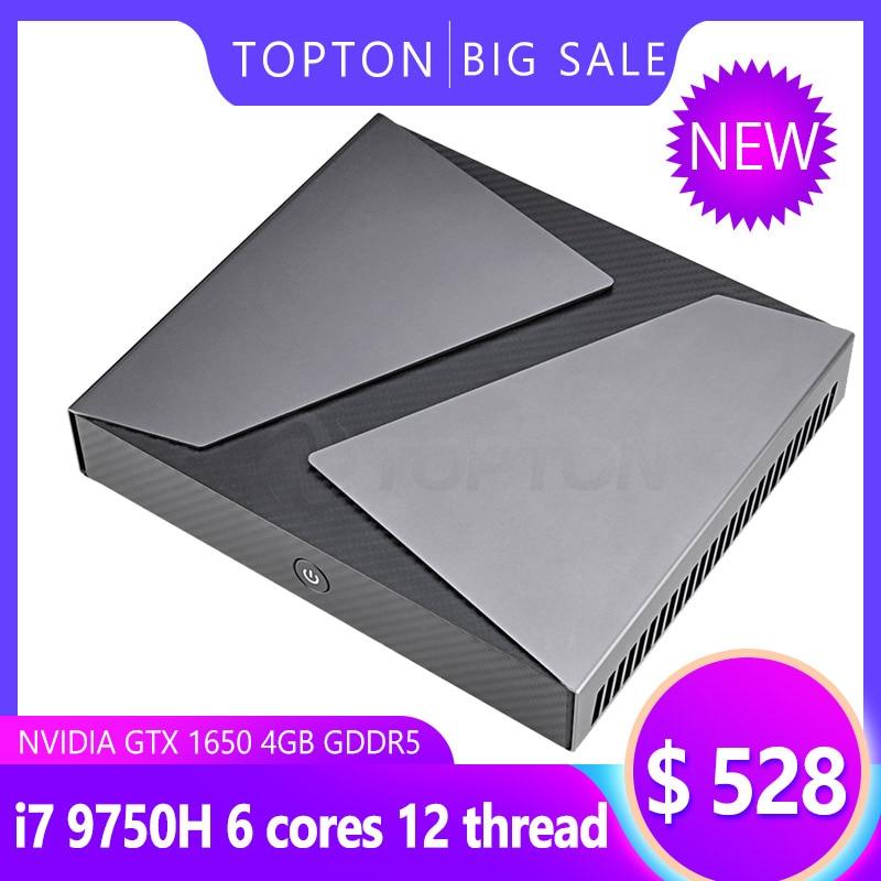 High Performance Mini Gaming PC Intel Core I9 I7-9750H I5-9300H GeForce GTX 1650 Mini Gaming Computer 4K HDMI DP Type-C AC WiFi