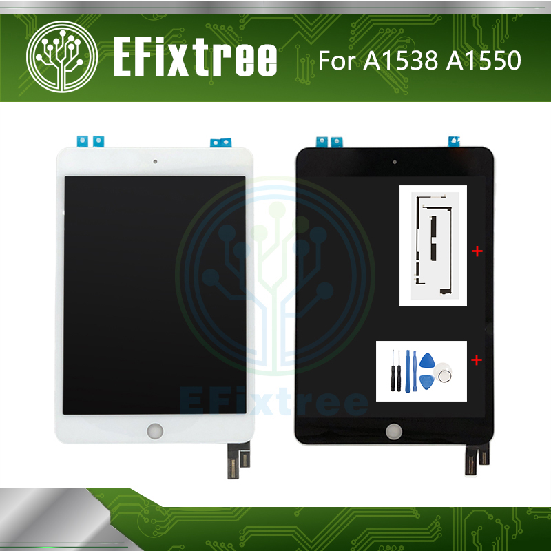 Original New A1538 A1550 LCD Display Touch Screen Assembly Black White For IPad Mini 4 LCD Digitzer Panel EMC 2815 EMC 2824