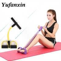 Эластичные тяговые веревки, тренажер для брюшной полости, Rower, для живота, для дома, для спортзала, для занятий спортом, эластичные ленты для ...