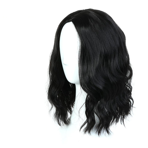 Image 3 - MUMUPI קצר קרלי מלא פאות wih פוני רך גלי שיער סינטטי טבעי שחור פאת שיער נשי פאת שיער יומי פאות